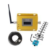 850MHz 70dB GSM CDMA 850 משחזר 2G 3g טלפון נייד משחזר מלא ערכת אותות בוסטרים מגבר מקורה + 13DB יאגי אנטנה