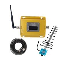 850MHz 70dB GSM CDMA 850 Repeater 2G 3g telefon komórkowy Repeater pełny zestaw wzmacniacz sygnału komórkowego kryty + 13DB yagi antena