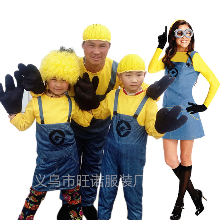 Minion Jumpsuit Halloween Gift Anime Despicable Me Cosplay Costumes Suits Boys/Girls Kids/adult Party Clothes