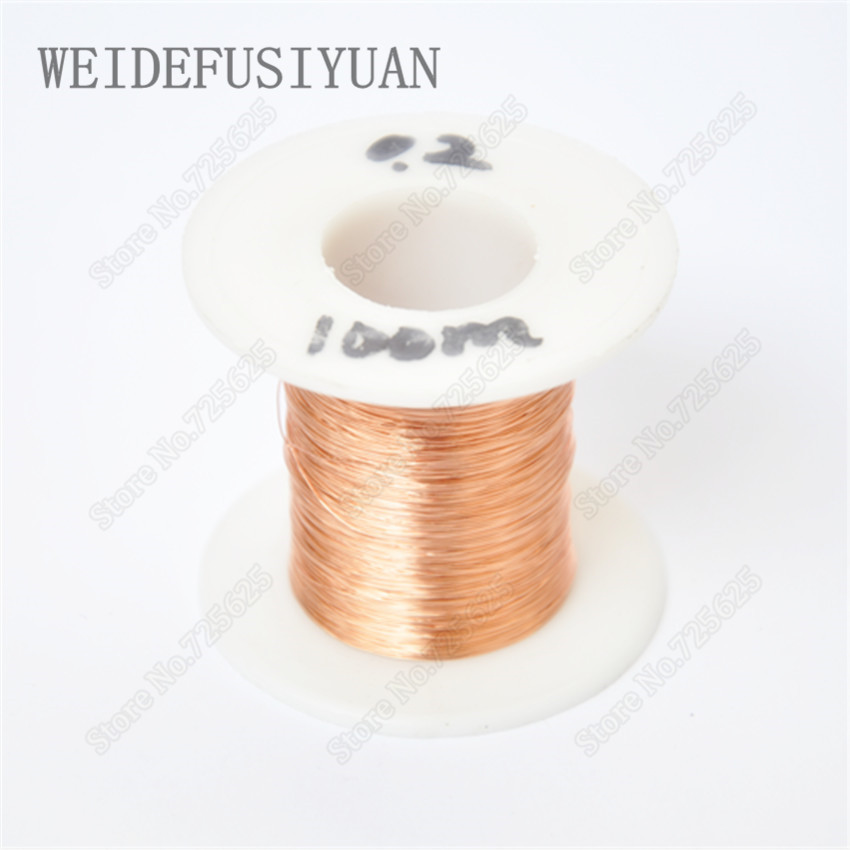 0.2 mm,100m/ pc, QA-1-155  New Polyurethane Enameled Wire,Copper wire провод polyurethane enameled wire qz 1 130 0 21 x500m pc 0 21 mm qz 1 130