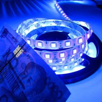 Super brilhante 5 m uv ultravioleta led luz de tira dc12v 5050 300 leds roxo à prova dwaterproof água led tap fita string luz melhor do que 3528