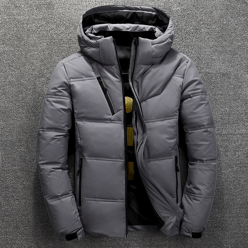 Winter new men's down jacket outdoor mens thick Detachable hat White duck down hooded coat male Solid color warm hiking jackets цены онлайн