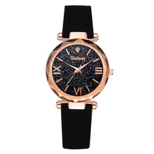 купить Luxury Watch Women 2019 Starry Sky Female Leather Quartz Wrist Watch Elegant Women Watches Bracelet Watch Clock Montre Femme дешево