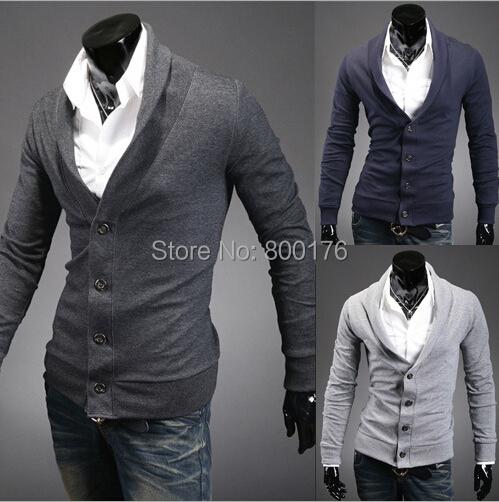 Frete grátis 2016 Moda Outono Camisola dos homens Double Breasted Lã Cashmere Masculino Casacos Moda Camisola tamanho M-2XL