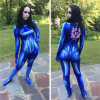 Women Girls Samus Zero Aran Cosplay Costume 3D Printing Spandex Lycra Zentai Bodysuit Suit Jumpsuits