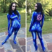 Áo Bé Gái Samus Bằng Không ARAN Trang Phục Hóa Trang 3D In Thun Lycra Zentai Bodysuit Áo Liền Quần