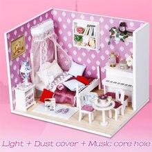 DIY Villa Puppe Haus Holz 3D Lichter Miniatur puppenhaus Möbel Puzzle Kit Spielzeug für kinder Geschenk königin traum