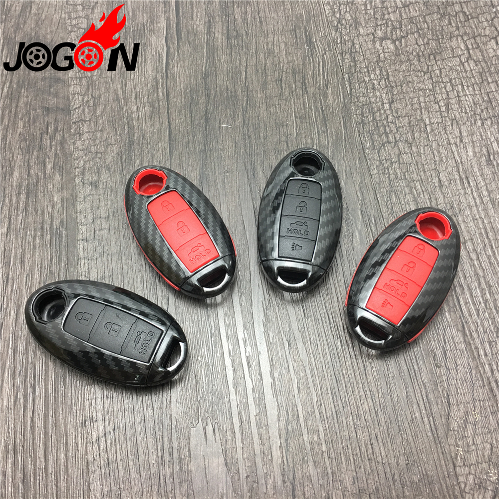 Carbon Fiber Look Car Remote Key Case Cover For Nissan Qashqai J11 X-Trail t31 t32 Rogue Kicks Tiida Murano Note Juke Teana new car styling luminous temporary parking card phone number plate sucker car sticker for nissan qashqai x trail tiida juke note