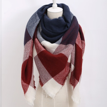 za winter scarf 2016 font b Tartan b font Scarf women desigual Plaid Scarf cuadros New