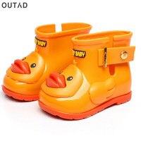 Waterproof Children Rain Boots Anti Slip Children S Water Shoes With Duck Pattern Unisex For Boys