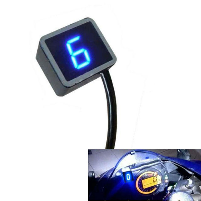 Universal Digital Gear Indicator Motorcycle Display Shift Lever Sensor