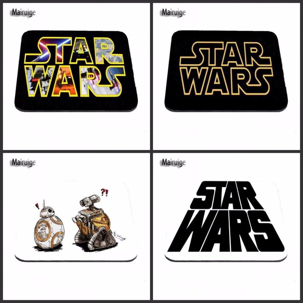 Top Game Mouse Pad Print Star Wars Logos Robot Style Durable Anti-slip Mouse Mat for Optical Mouse Pad 18*22cm and 25*29cm