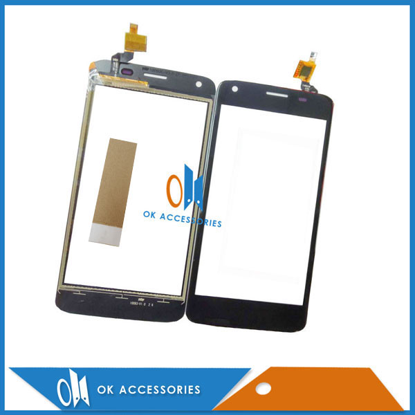 High Quality 4.5 Inch For Fly FS457 Nimbus 15 Black Color Digitizer Touch Screen Glass With Tape image
