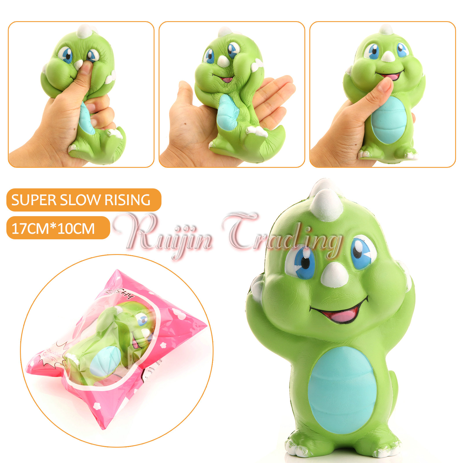Squishy Squooshems Danny Dinosaur : Aliexpress.com : Buy 15CM Jumbo Kawaii Cute Original Green Dinosaur Baby Squishy Slow Rising ...