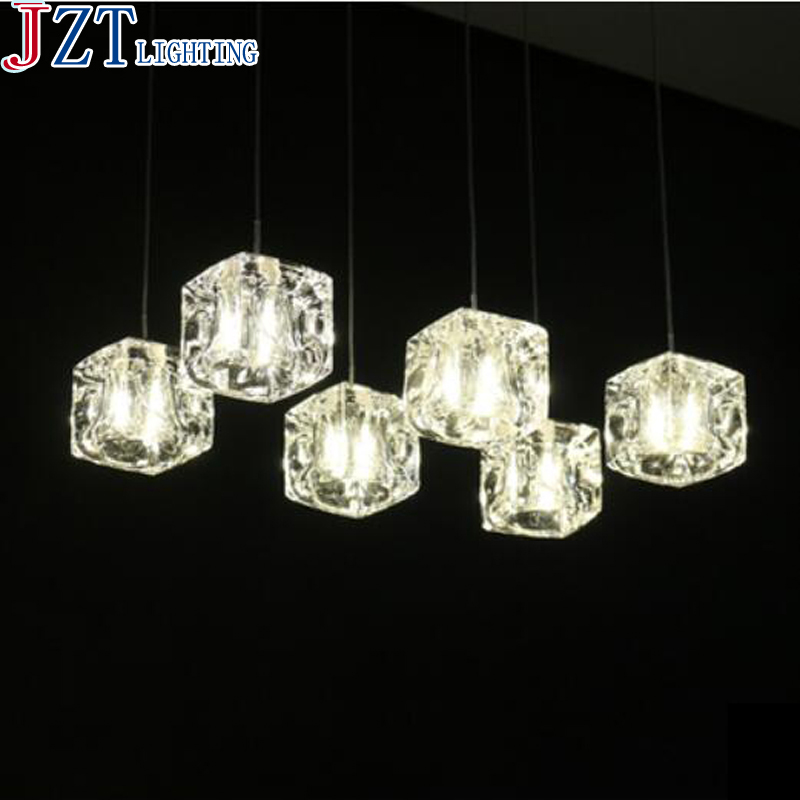 M Led Crystal Glass Restaurant Pendant Light G4 8 Head Stainless Steel Circular Rectangular Lamp Base Contemporary Bar Light