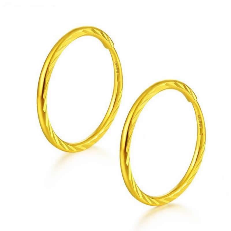 Brincos de Ouro Real Sólido Ouro Amarelo Brincos – Nova Chegada 1.1-1.3g 999 24 k