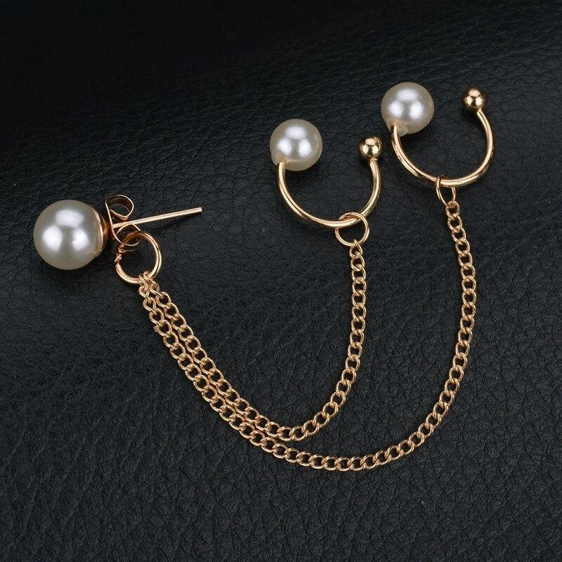 (1pcs) Fashion Earrings Jewelry Imitation Pearl Earrings For Women Long Tassel Earrings Chain Women Gift Oorbellen Brincos