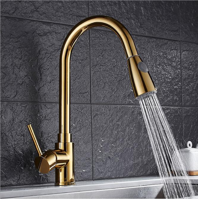 New design pull out kitchen faucet chrome 360 degree swivel kitchen sink Faucet Mixer tap kitchen faucet vanity faucet cozinha newly arrived pull out kitchen faucet gold chrome nickel black sink mixer tap 360 degree rotation kitchen mixer taps kitchen tap