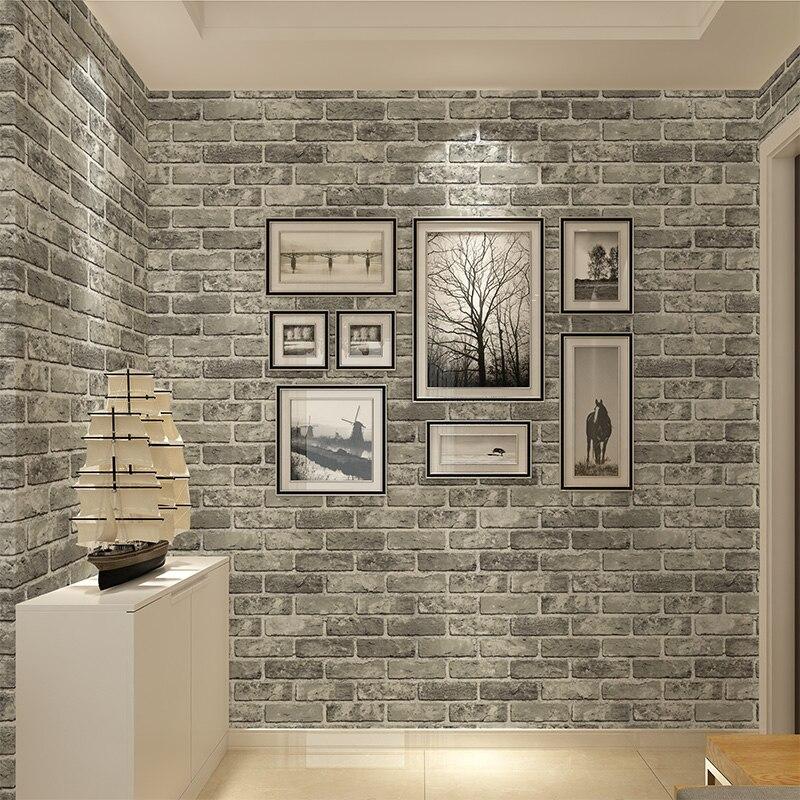 De haute qualité rétro brique imitation brique mur-style salon restaurant restaurant alimentaire 3D Stéréo Projet Culturel papier peint