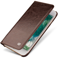 QIALINO Genuine Leather Fashion Case for iPhone 7 Handmade Luxury Ultra Slim Flip Phone Cover for iPhone 7 plus 4.7/5.5 inch
