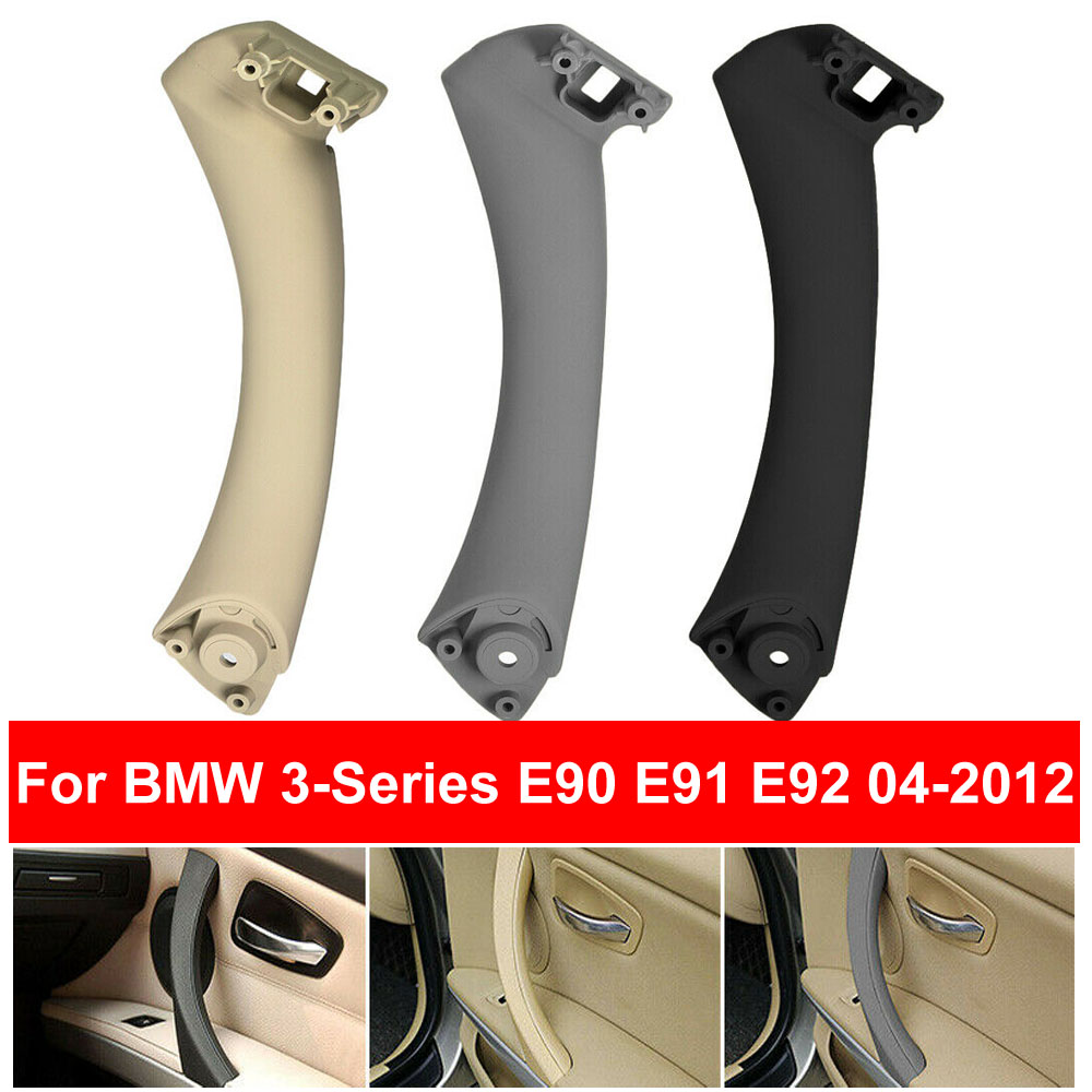 RHD LHD Car Inner Handle Interior Door Panel Pull Trim Cover For BMW 3 Series E90 E91 E9 316 318 320 Gray Beige Black Left Right image