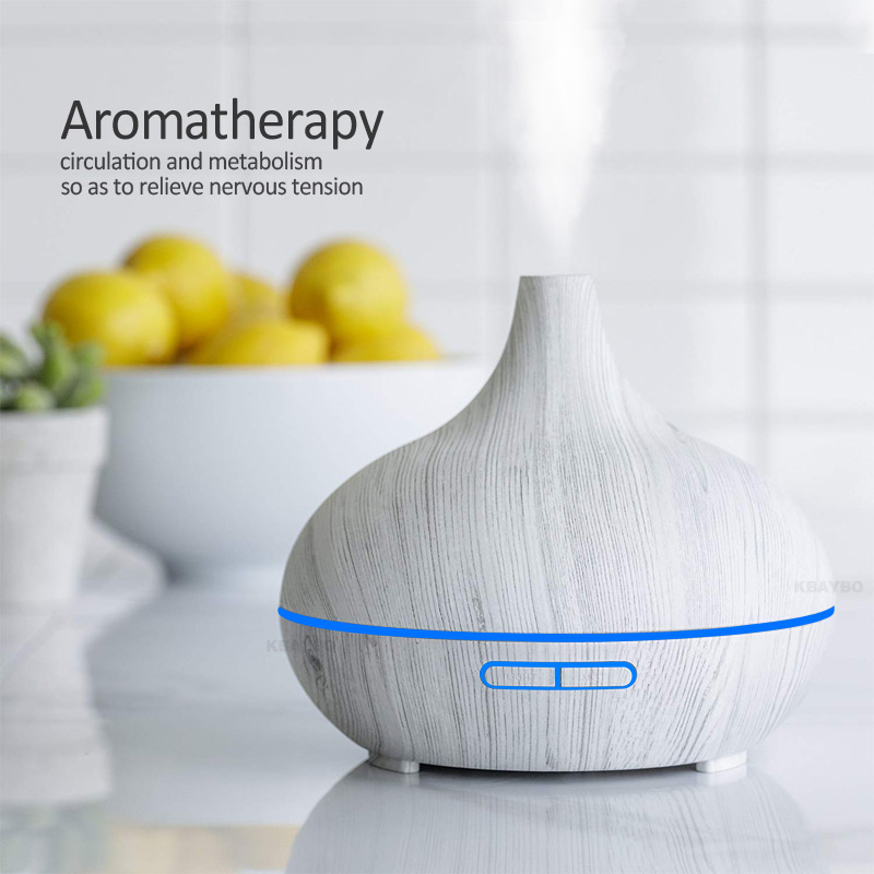 White Wood 300ml Essential Oil Diffuser Air Humidifier Aroma Lamp Aromatherapy Electric Aroma Diffuser