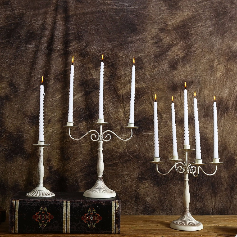 One three five Wrought Iron Candle Holders Romantic western restaurant candlelight Dinner Table Weddings Candlestick