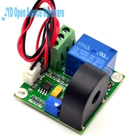1pcs 12V AC Current Detection Module 0 5A Current Sensor Module W Relay Module