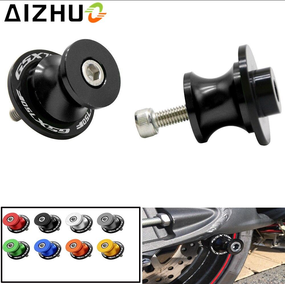 8mm Motorcycle Accessories Swingarm Slider Spool CNC Aluminum GSX-R 600 LOGO Stand Screws For Suzuki GSX-R 600 GSXR 600 GSXR600