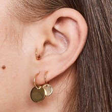 6 Pcs/set Personality Punk Exquisite Gold Round Small Hoop Earrings Set Bohemian Retro Women Party Wedding Accessories