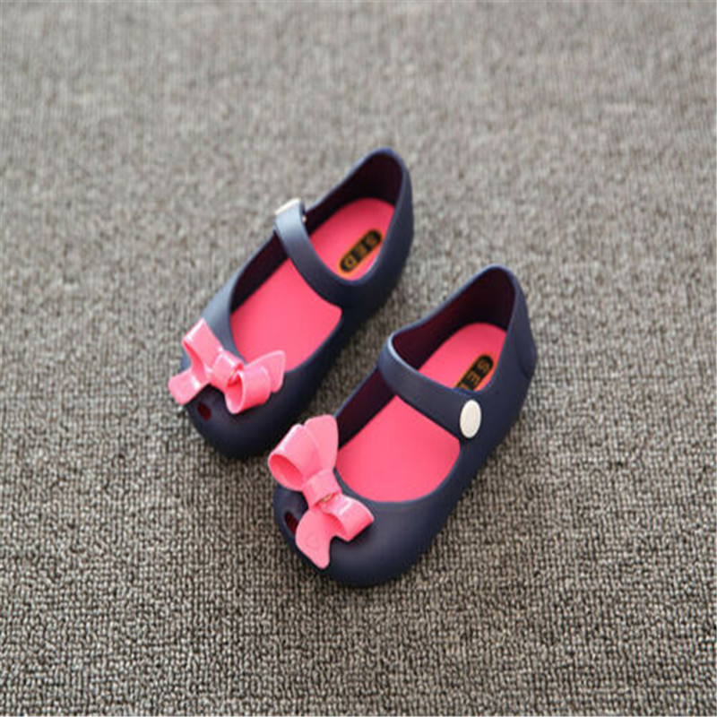 2019 New Infant Baby Girls Kids Princess Non-Slip Plastic Sandals  Summer Buckle Fashion Casual Solid Bow Slip-on Shoes 1-6Y