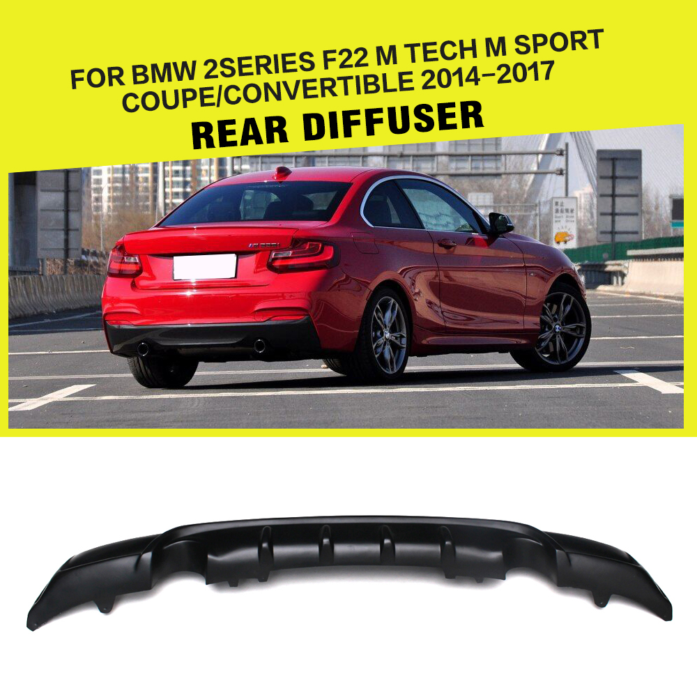 FRP Racing Rear Diffuser Lip for BMW 2 Series F22 220i 228i 230i M Sport Coupe & Convertible 2014-2017