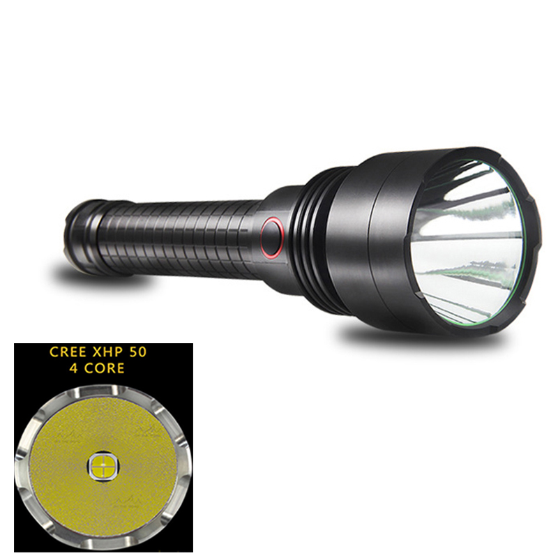 CREE XHP50 Led Flashlight 18650 or 26650 Battery Aluminum light cup Direct Charging Powerful Lantern Self Defense Tactical Lamp