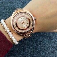 Top Brand CONTENA Watch Women Watches Rose Gold Bracelet Watch Luxury Rhinestone Ladies Watch Saat Relogio