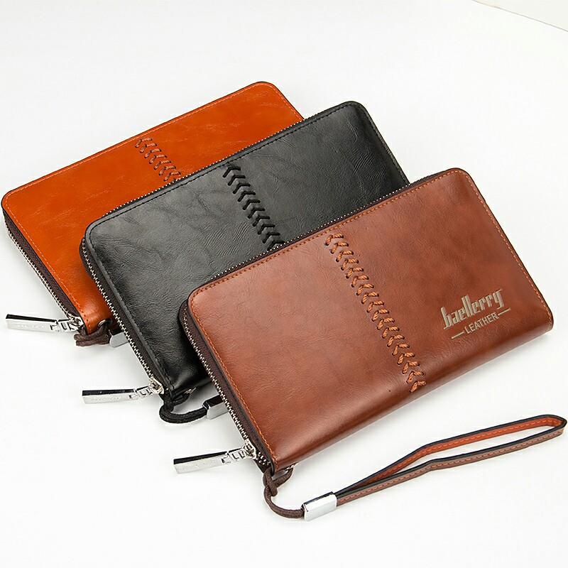 Baelerry Men Wallets Retro High Capacity Clutch Bag Oil Wax Leather Men Clutch Wallet Coin Purse Male Wrist Strap Wallet Bag high quality leather men s clutch wallets wholesale leather clutch bag zipper coin bag men big wallet wholesale drop shipping