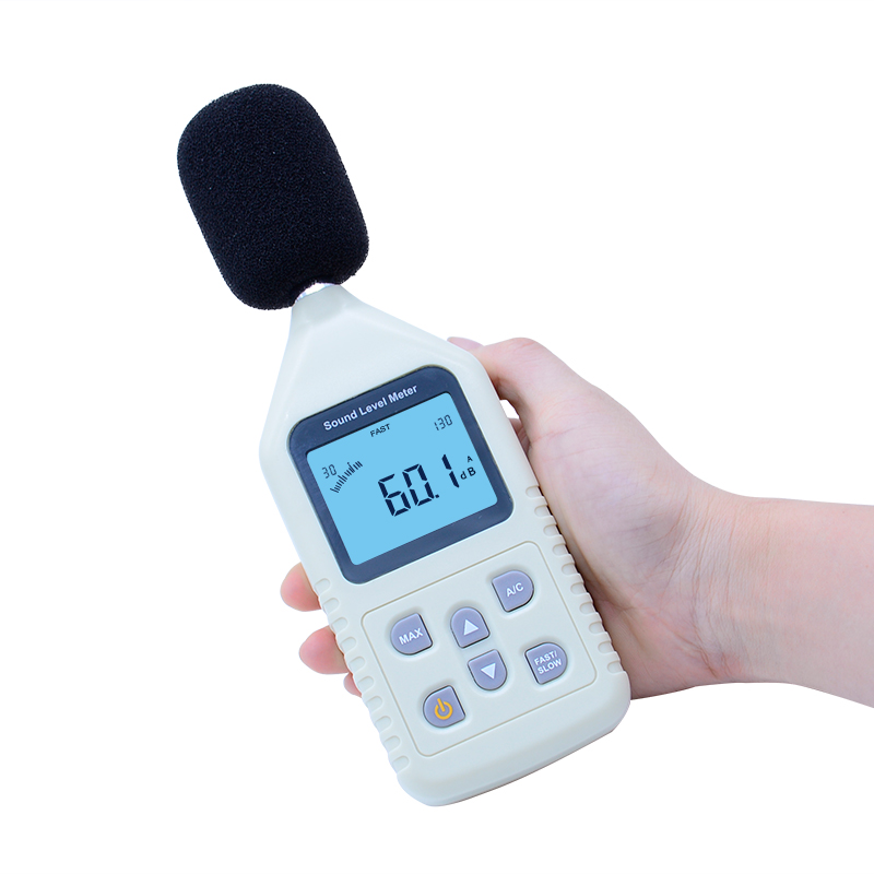 GM1358 30-130dB Digital sound level meter noise tester in decibels LCD A/C FAST/SLOW dB screen Free Shipping noise meter usb digital sound level meter led noise tester meter gm1356 30 130db a c fast slow db software with carry box