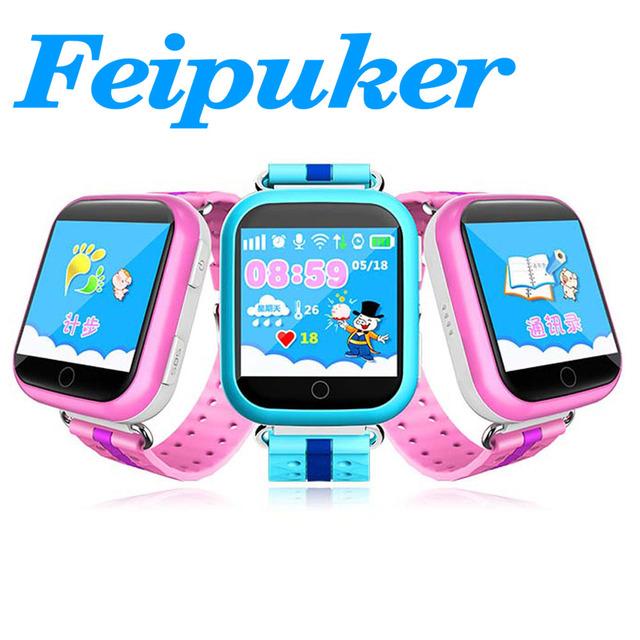 Feipuker GW200S Bebé Reloj GPS con Wifi Pantalla Táctil a Color de 1.54 Pulgadas SOS Del Perseguidor de Posicionamiento Seguro Contra la Pérdida-Kids GPS Reloj