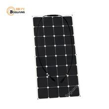 BOGUANG 100W 18V flexible solar panel high grade back connection 21 efficeint for diy 12v battery