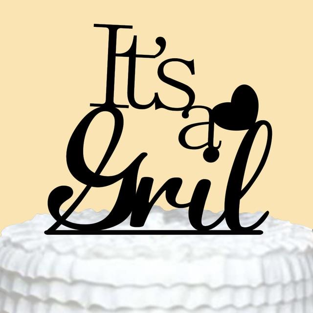 Happy Birthday Cake Topper It S A Girl Cake Topper 1st Birthday