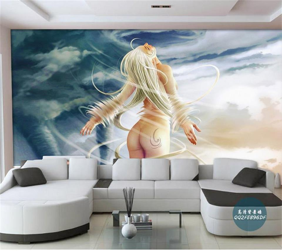 3d photo wallpaper custom mural room non-woven Tornado nude blonde painting picture 3d wall murals wallpaper for walls 3d 3d room wallpaper custom mural non woven wall sticker golden vase green pink flower painting photo murals wallpaper for walls 3d