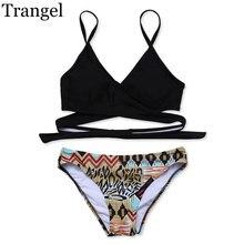 Summer vacation Women Swimsuit biquini low waist swim cloth print pattern soft padded swimwears females monokini swimwear bikini