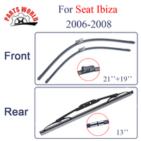 Group Silicone Rubber Front And Rear Wiper Blades For Seat Ibiza 2006 2008 Windscreen Wipers Car