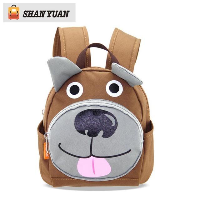 Novo Anti-perdido Cão Bonito Saco de Livro Mochila Para Meninos Do Jardim de Infância Do Bebê Sacos de Escola dos miúdos Para Meninas Mochila Infantil Para A Idade 1-3 Ano