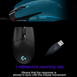 Image 2 - Logitech G102/G102 Second Generation Wired Mouse for Windows 10/8/7 Game Mouse with 6000dpi Optical RGB lights for PC /Desktop