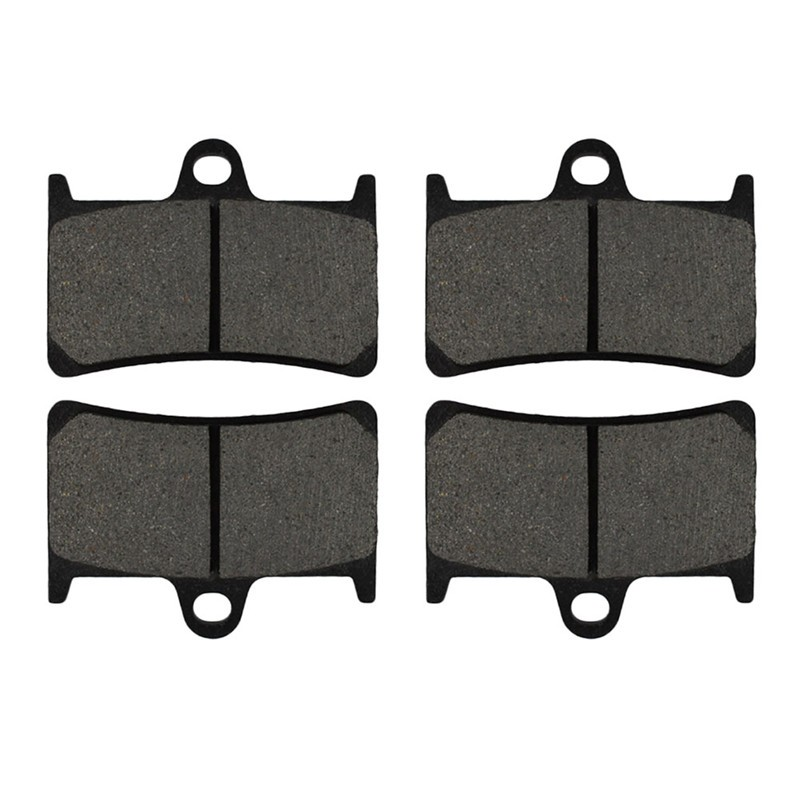 2 Pairs Motorcycle Brake Pads for YAMAHA FZS1000 FZ1 2001-2005 Black Brake Disc Pad 2 pairs motorcycle brake pads for yamaha fzr 750 fzr750 genesis 1987 1988 sintered brake disc pad