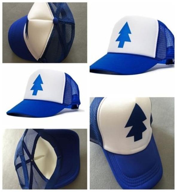 7a44569a4de06 New Curved Bill BLUE PINE TREE Dipper Gravity Falls Cartoon Hat Cap Trucker  unisex hat for woman man