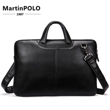Briefcases Genuine Leather Shoulder Bags Black Handbags Business Bag Men for Document Male Briefcases Leather Laptop Bag MLT392