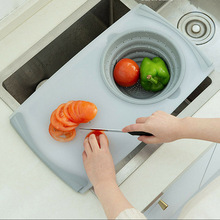 Multifunction Kitchen Chopping Board Sinks Drain Basket Container Cutting MJJ88