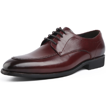 Black / Deep Brown Pointed Toe Prom Shoes Boys Dress Shoes Genuine Leather Business Shoes Male Wedding Shoes