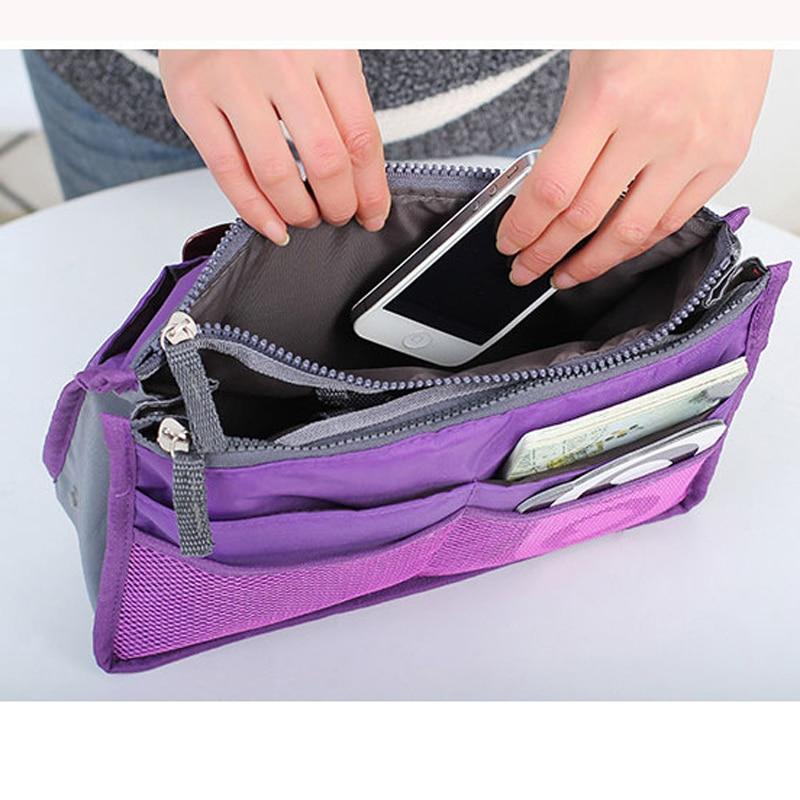 New Fashion 3 Colors Makeup Organizer Bag Women Casual Travel Multifunctional Solid Cosmetic Bags Storage Men Make Up Handbag